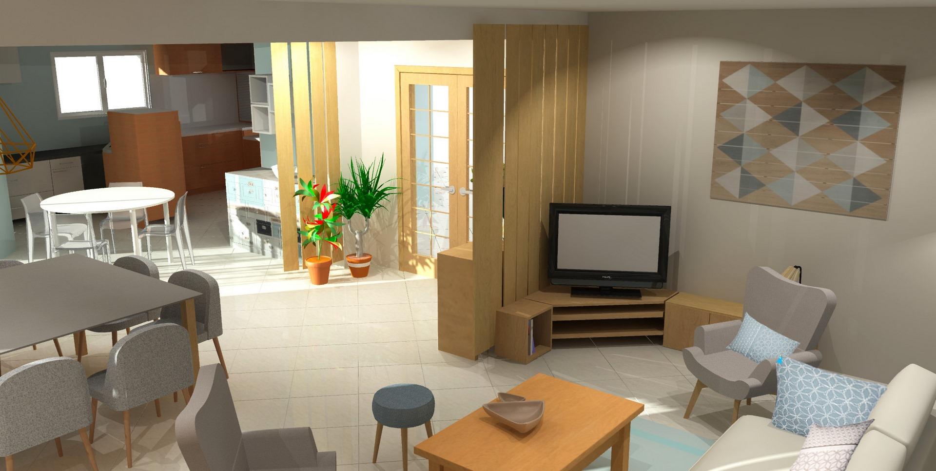 aménagement et décoration salon MH DECO Bas-Rhin
